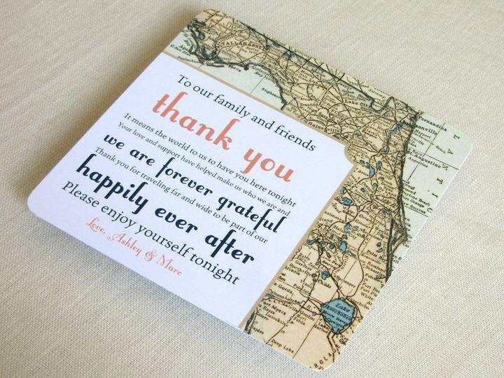 Tmx 1437502406053 Florida Map Plate Thank You Phoenixville wedding invitation