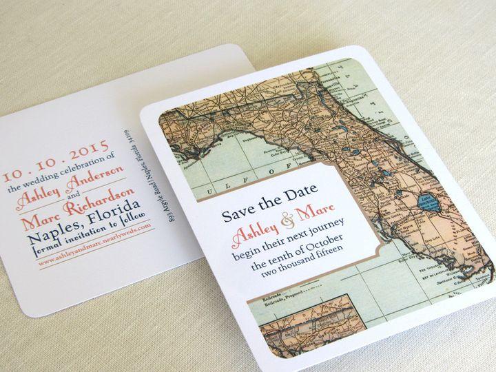 Tmx 1437502410008 Florida Map Save The Date 2 Phoenixville wedding invitation
