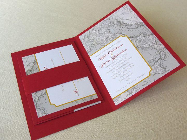 Tmx 1437504379445 Italy Map Invite With Rsvp 2 Phoenixville wedding invitation