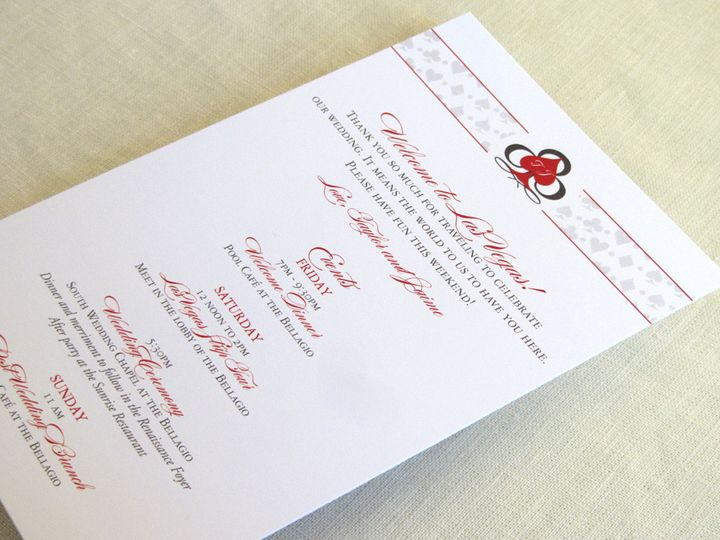 Tmx 1437504966422 Las Vegas Itinerary Card Long Phoenixville wedding invitation
