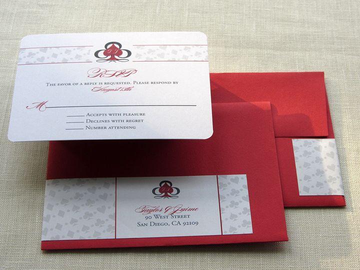 Tmx 1437505012470 Vegas Wrap Rsvp Phoenixville wedding invitation