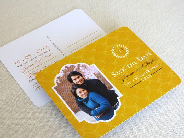 Tmx 1437505191468 Laurel Wreath Photo Save The Date Phoenixville wedding invitation