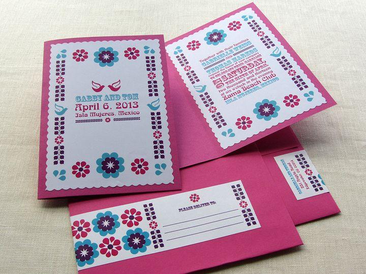 Tmx 1437505715523 Mexican Folk Invitation W Envelope Phoenixville wedding invitation