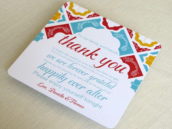 Tmx 1437505777622 Mexican Tile Plate Thank You 2 Phoenixville wedding invitation