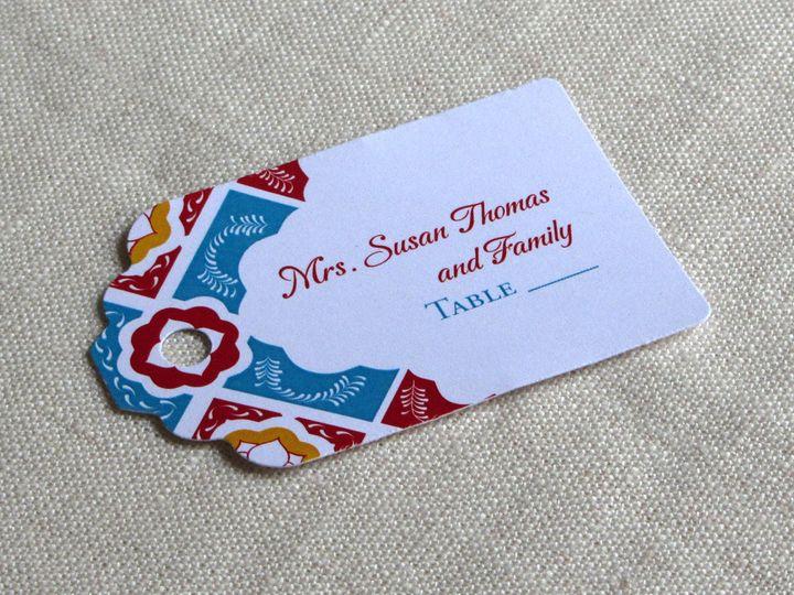 Tmx 1437505785559 Mexican Tile Place Tag Phoenixville wedding invitation