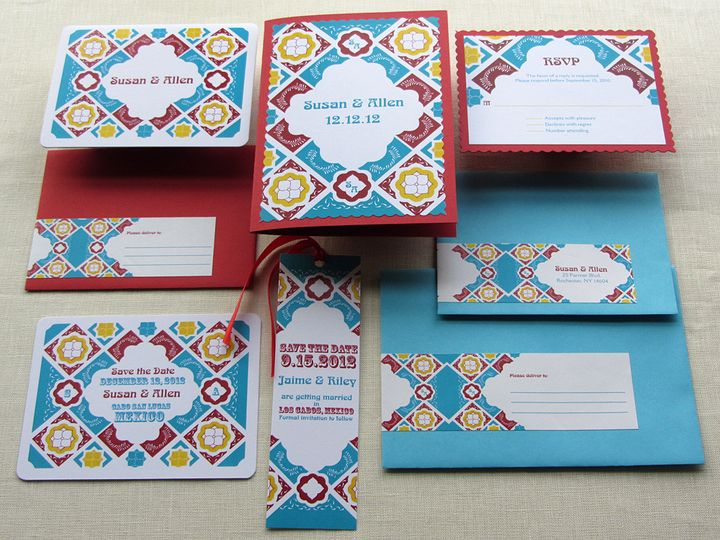 Tmx 1437505792560 Mexican Tile Full Invitation Set Phoenixville wedding invitation