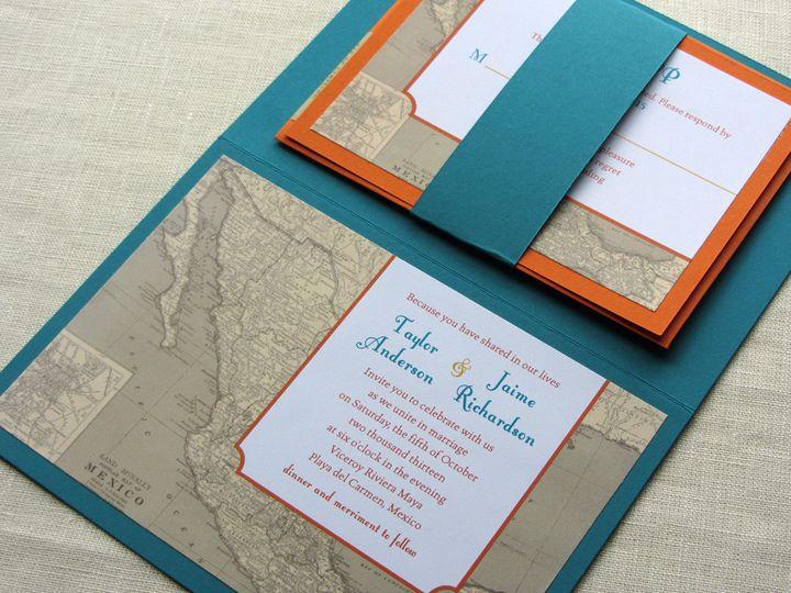 Tmx 1437506364557 Mexico Map Invitation With Rsvp Phoenixville wedding invitation