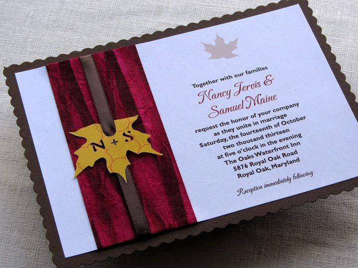 Tmx 1437506456481 Rustic Leaf Invitation New3 Phoenixville wedding invitation
