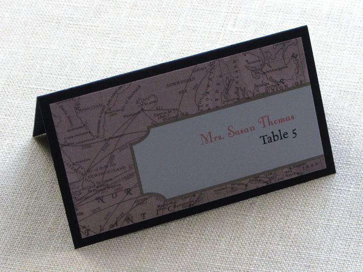 Tmx 1437507332955 Vintage Map Place Card Tent Phoenixville wedding invitation