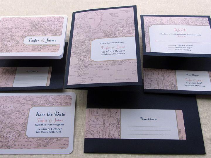 Tmx 1437507341570 Vintage Map Full Invitation Set 2 Phoenixville wedding invitation