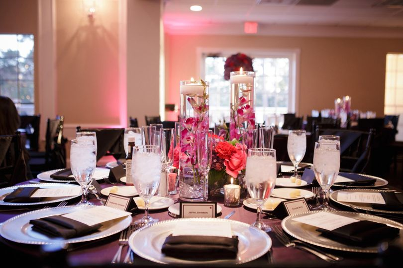 Pink reception setup