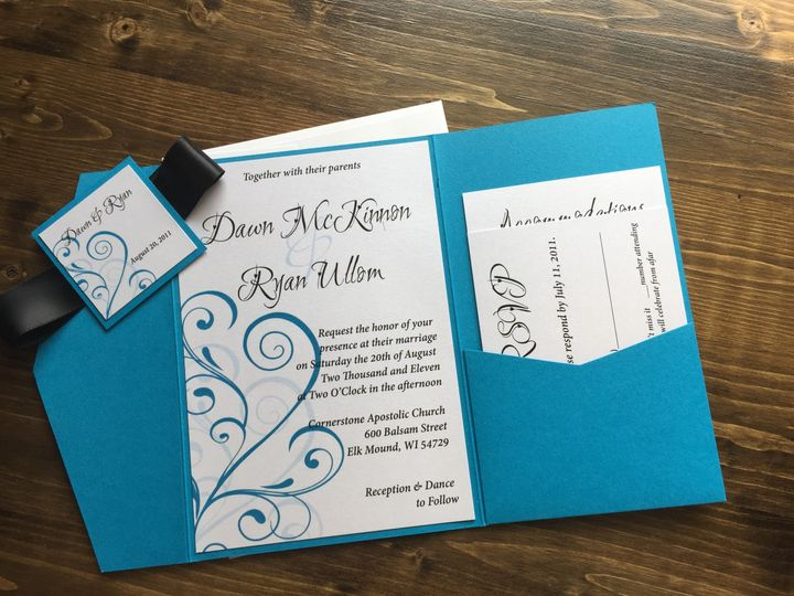 Tmx 1454085901546 Img0803 Eau Claire, WI wedding invitation