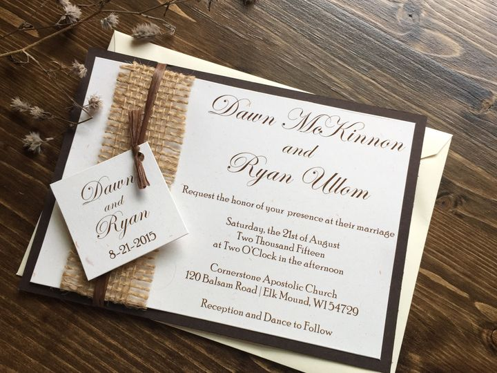 Tmx 1454085958265 Img0884 Eau Claire, WI wedding invitation