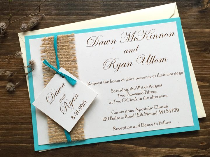 Tmx 1454085980264 Img0890 Eau Claire, WI wedding invitation