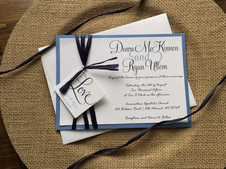 Tmx 1454086058181 Img0945 Eau Claire, WI wedding invitation