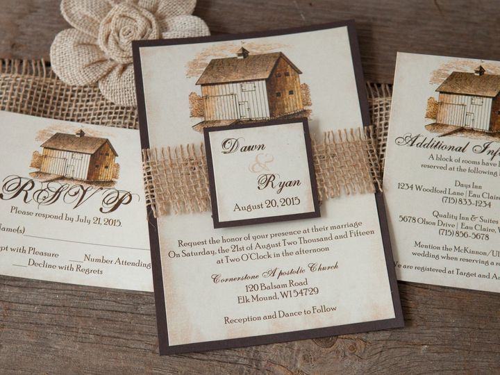 Tmx 1454086162858 Invitations 5716 2 Eau Claire, WI wedding invitation