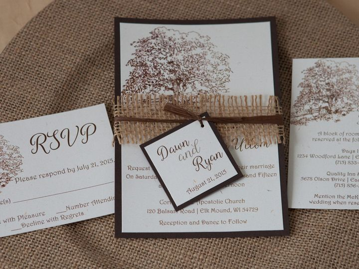 Tmx 1454086197745 Invitations 5733 2 Eau Claire, WI wedding invitation