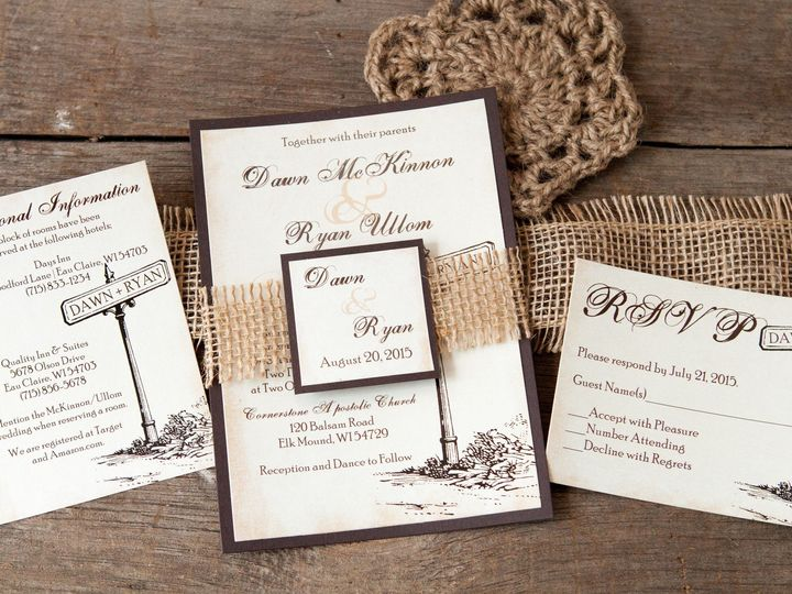 Tmx 1454086229063 Invitations 5741 2 Eau Claire, WI wedding invitation