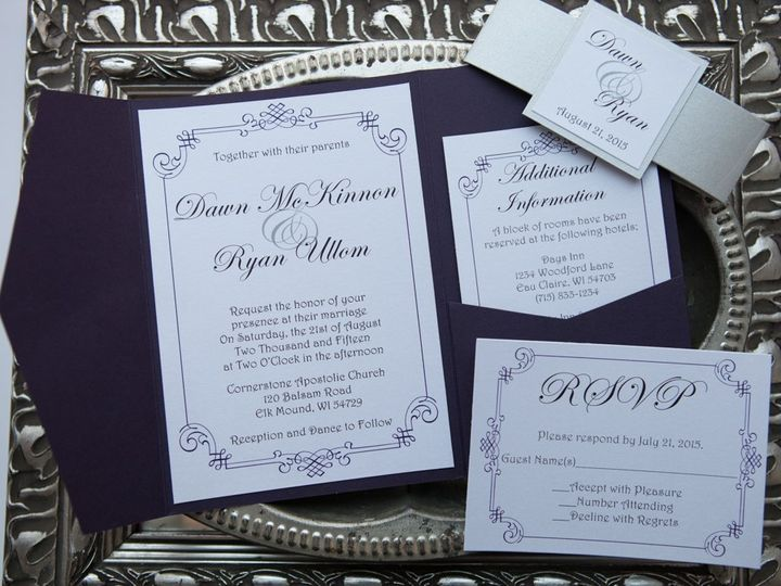 Tmx 1454086250768 Invitations 6133 2 Eau Claire, WI wedding invitation