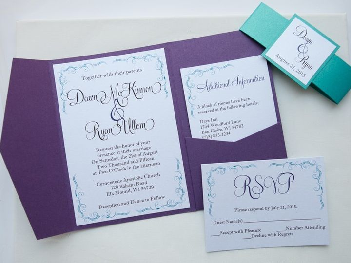 Tmx 1454086255928 Invitations 6129 2 Eau Claire, WI wedding invitation