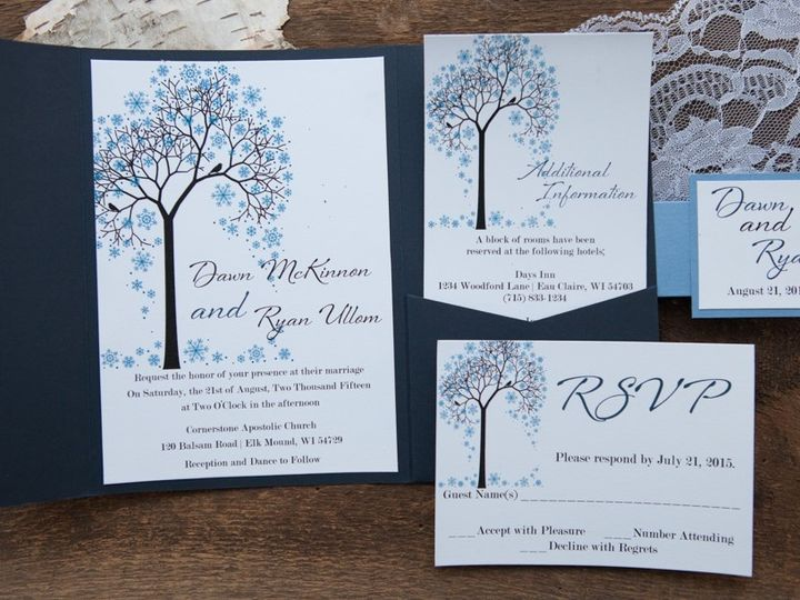 Tmx 1454086261929 Invitations 6122 2 Eau Claire, WI wedding invitation