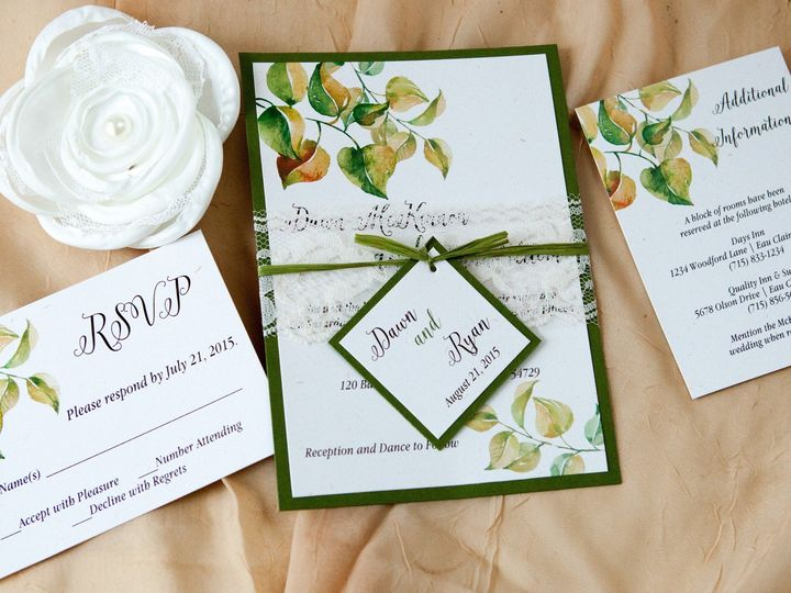 Tmx 1454086318700 Invitations 5776 2 Eau Claire, WI wedding invitation