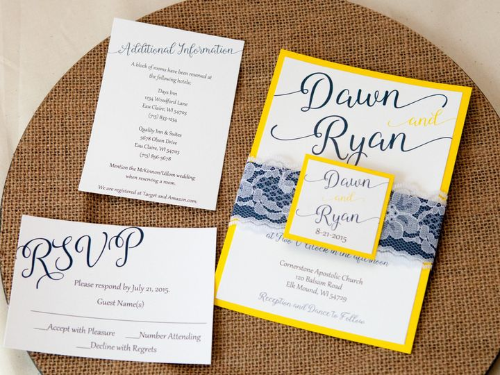 Tmx 1454086343675 Invitations 5798 2 Eau Claire, WI wedding invitation