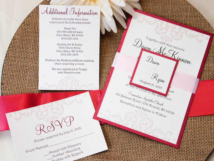 Tmx 1454086374252 Invitations 5810 2 Eau Claire, WI wedding invitation