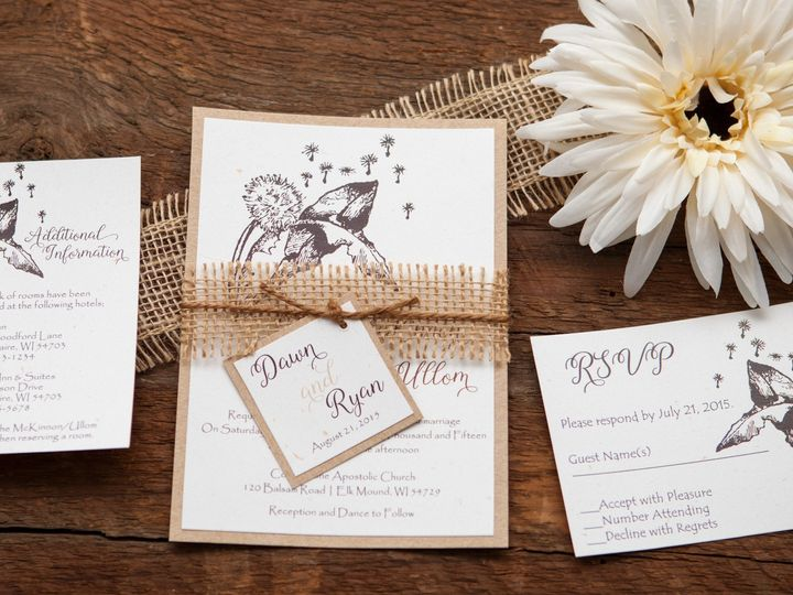 Tmx 1454086403504 Invitations 5832 2 Eau Claire, WI wedding invitation