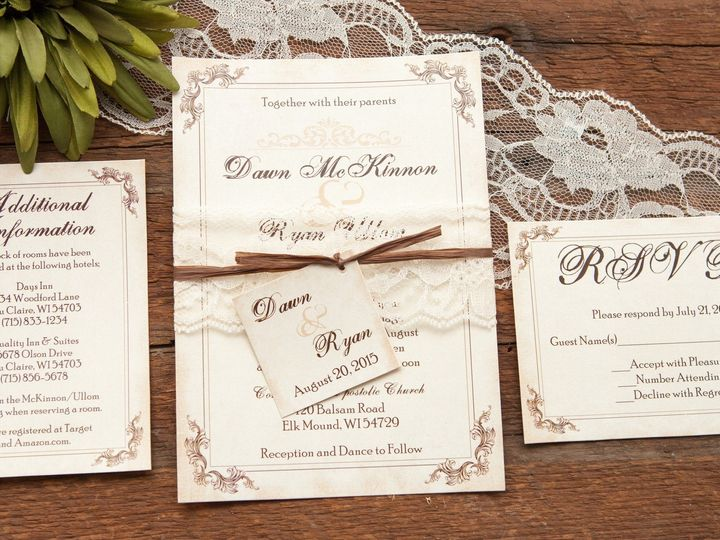 Tmx 1454086428418 Invitations 5850 2 Eau Claire, WI wedding invitation