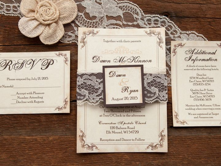 Tmx 1454086454773 Invitations 5858 2 Eau Claire, WI wedding invitation