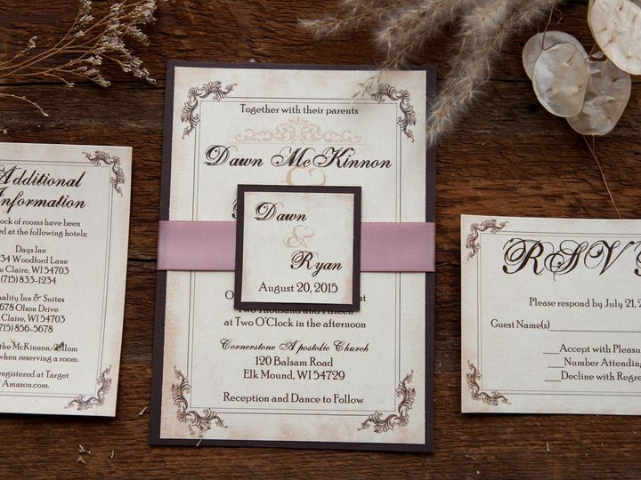 Tmx 1454086483449 Invitations 5861 2 Eau Claire, WI wedding invitation