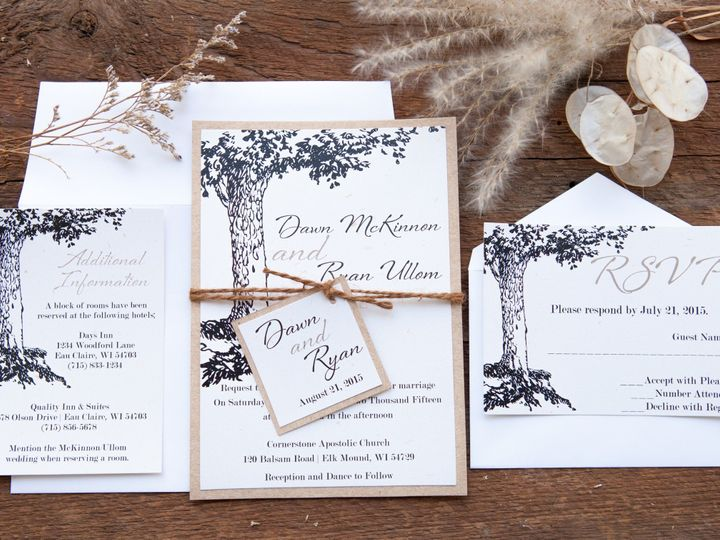 Tmx 1454086525004 Invitations 5867 2 Eau Claire, WI wedding invitation