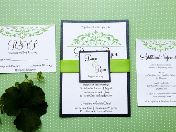 Tmx 1454086557882 Invitations 5875 2 Eau Claire, WI wedding invitation