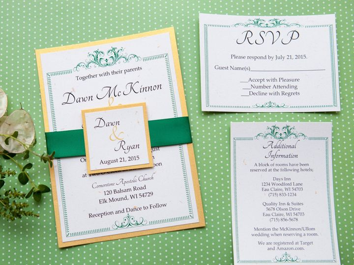 Tmx 1454086591585 Invitations 5882 2 Eau Claire, WI wedding invitation