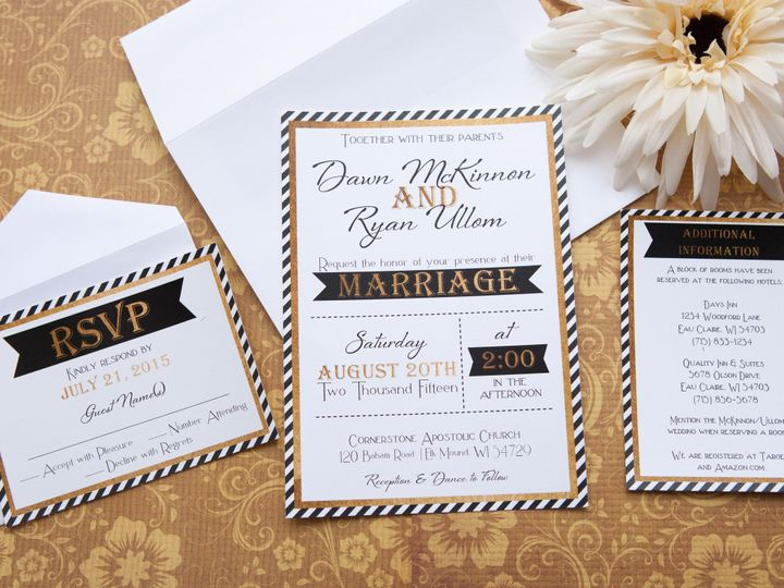 Tmx 1454086668954 Invitations 5895 2 Eau Claire, WI wedding invitation