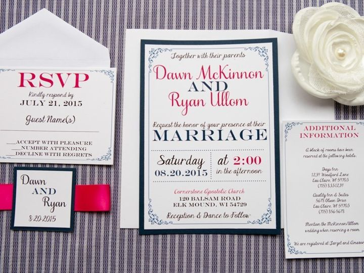 Tmx 1454086721864 Invitations 5912 2 Eau Claire, WI wedding invitation