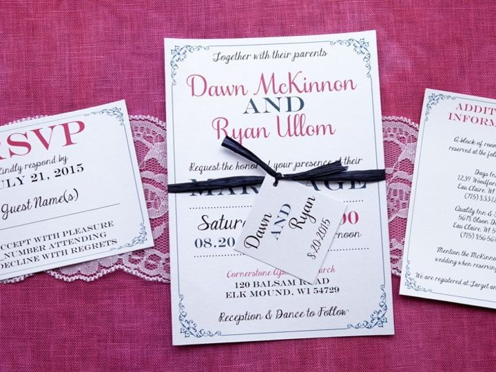 Tmx 1454086728061 Invitations 5913 2 Eau Claire, WI wedding invitation