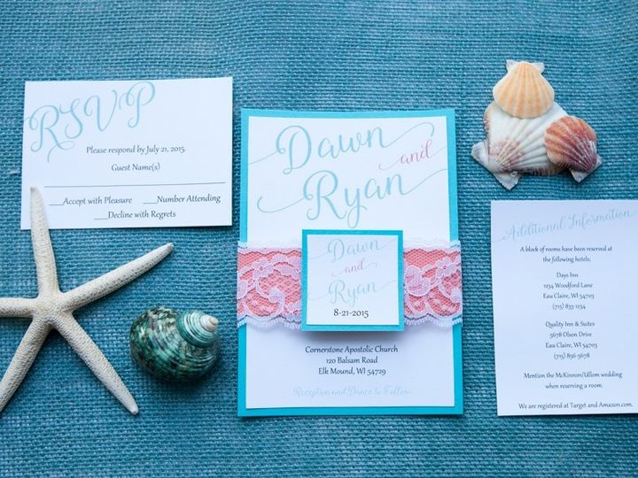 Tmx 1454086734710 Invitations 5949 2 Eau Claire, WI wedding invitation
