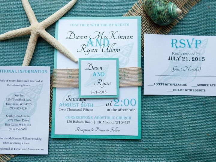 Tmx 1454086745793 Invitations 5968 2 Eau Claire, WI wedding invitation
