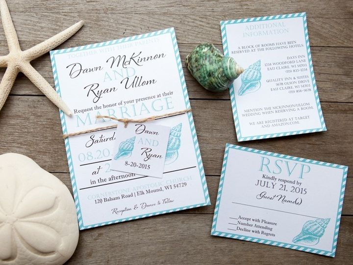 Tmx 1454086759554 Invitations 5986 2 Eau Claire, WI wedding invitation