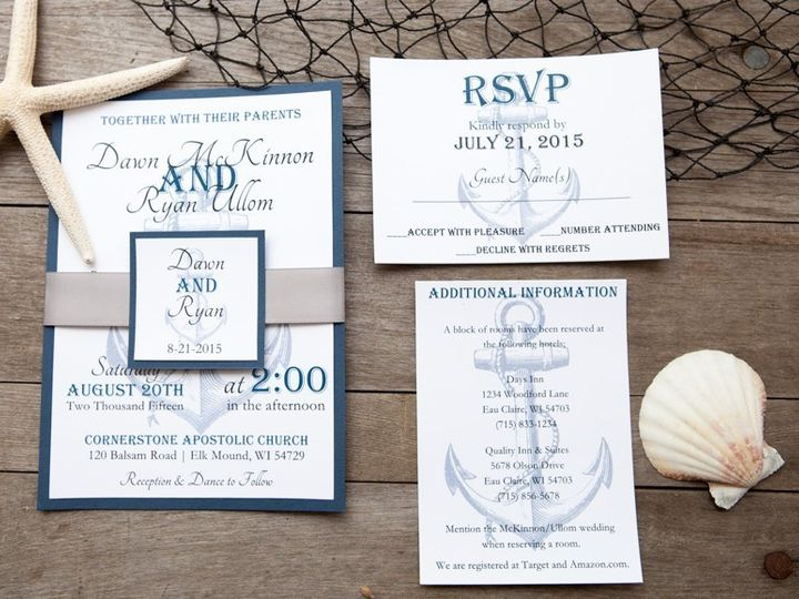 Tmx 1454086765942 Invitations 5993 2 Eau Claire, WI wedding invitation