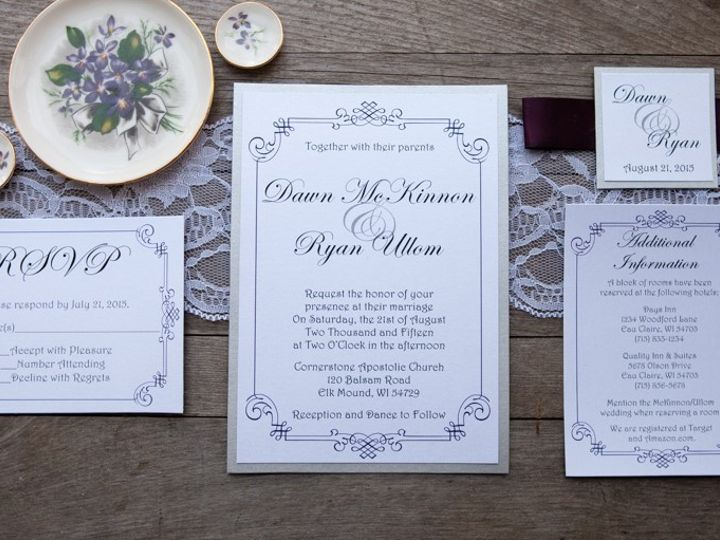 Tmx 1454086771218 Invitations 6004 2 Eau Claire, WI wedding invitation