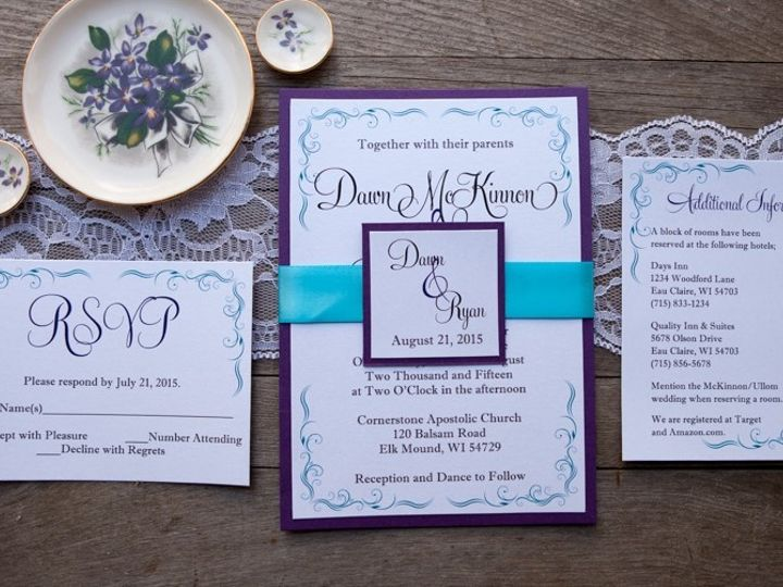 Tmx 1454086777796 Invitations 6007 2 Eau Claire, WI wedding invitation