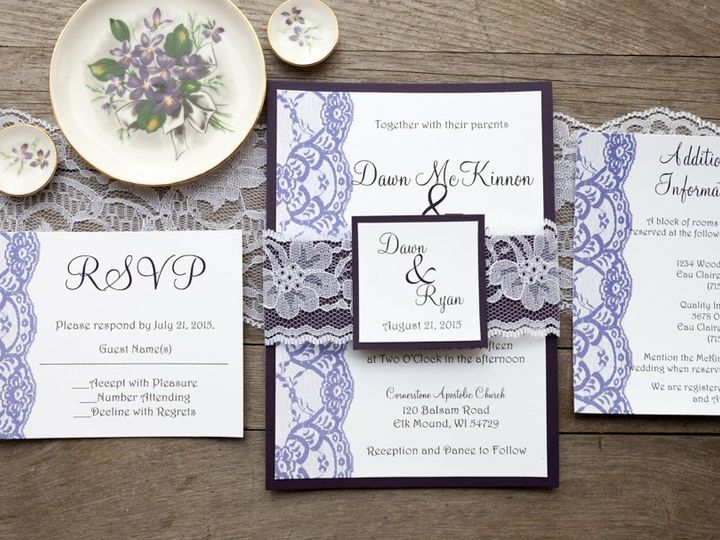 Tmx 1454086782823 Invitations 6016 2 Eau Claire, WI wedding invitation