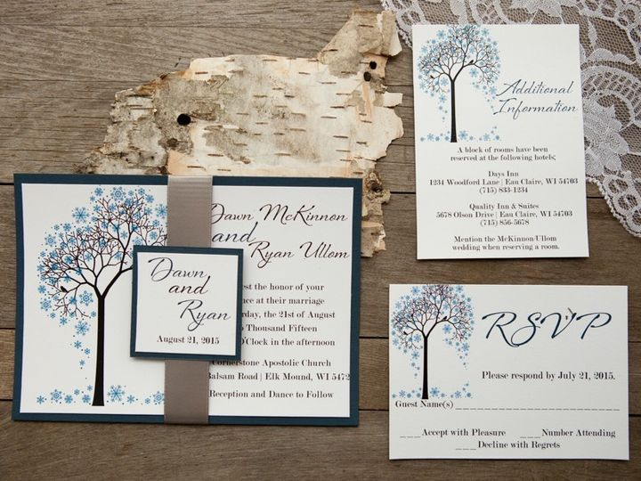 Tmx 1454086788180 Invitations 6018 2 Eau Claire, WI wedding invitation