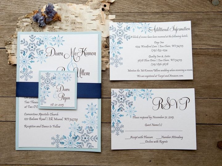 Tmx 1454086793299 Invitations 6024 2 Eau Claire, WI wedding invitation