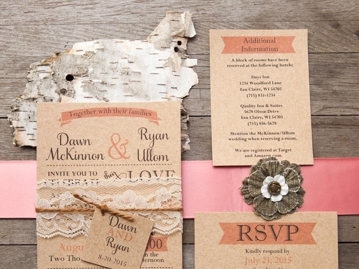 Tmx 1454086798346 Invitations 6031 2 Eau Claire, WI wedding invitation