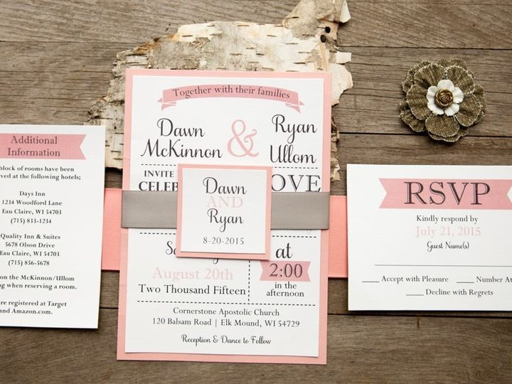 Tmx 1454086804078 Invitations 6037 2 Eau Claire, WI wedding invitation