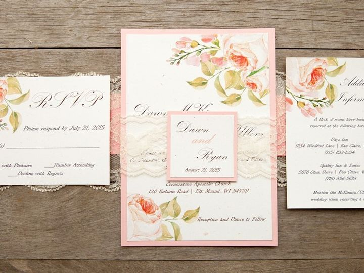 Tmx 1454086811240 Invitations 6051 2 Eau Claire, WI wedding invitation